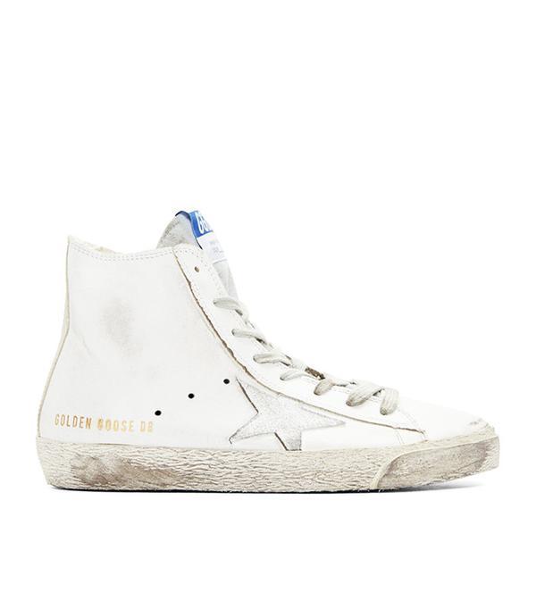 Golden Goose White Francy High Top Sneakers