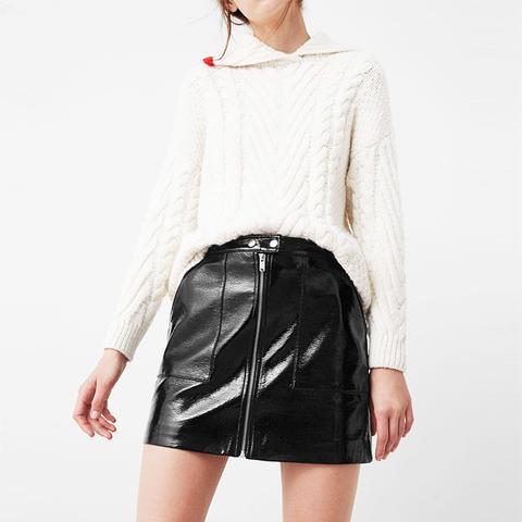 Zipped Patent Skirt