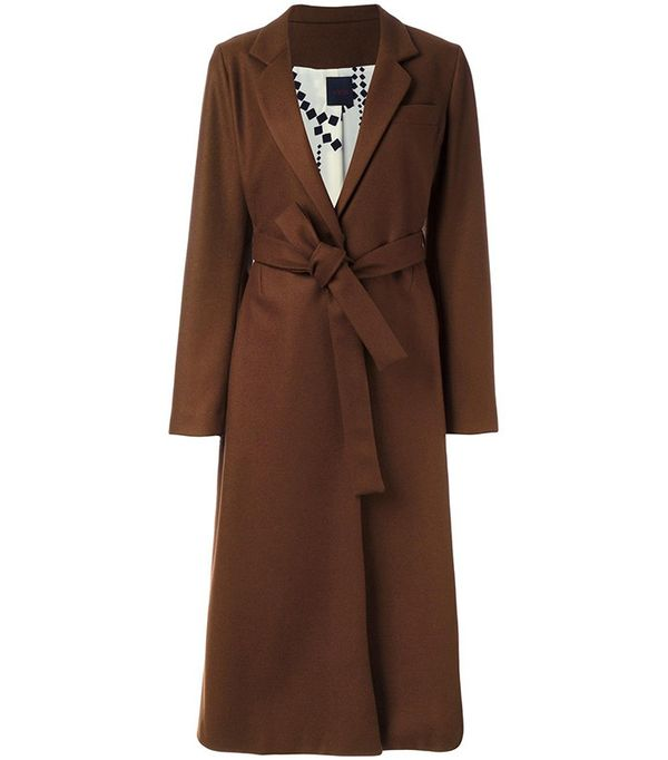 Eggs Belted Mid Coat