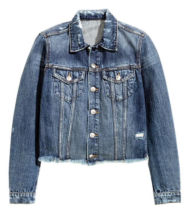 H&M Distressed Denim Jacket