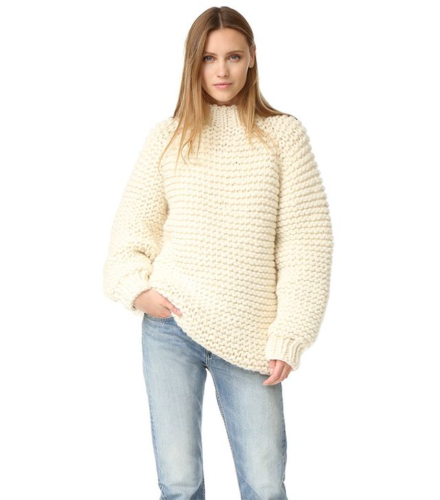 I Love Mr. Mittens Wool Boxy Sweater