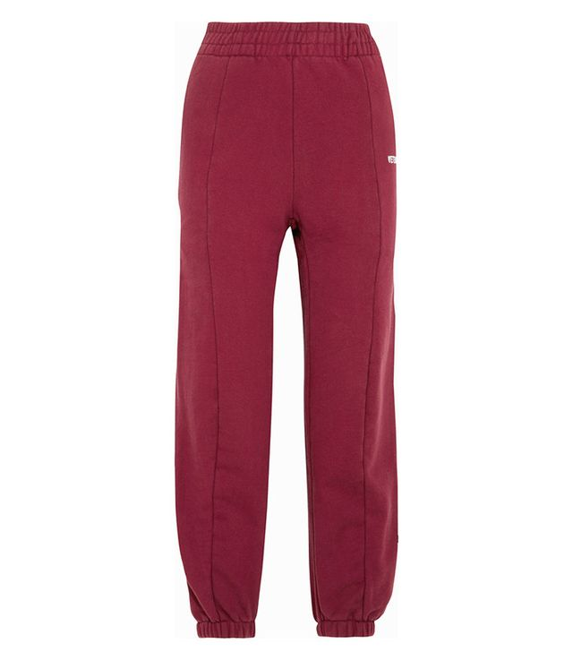 Vetements Embroidered Cotton-Blend Jersey Sweatpants