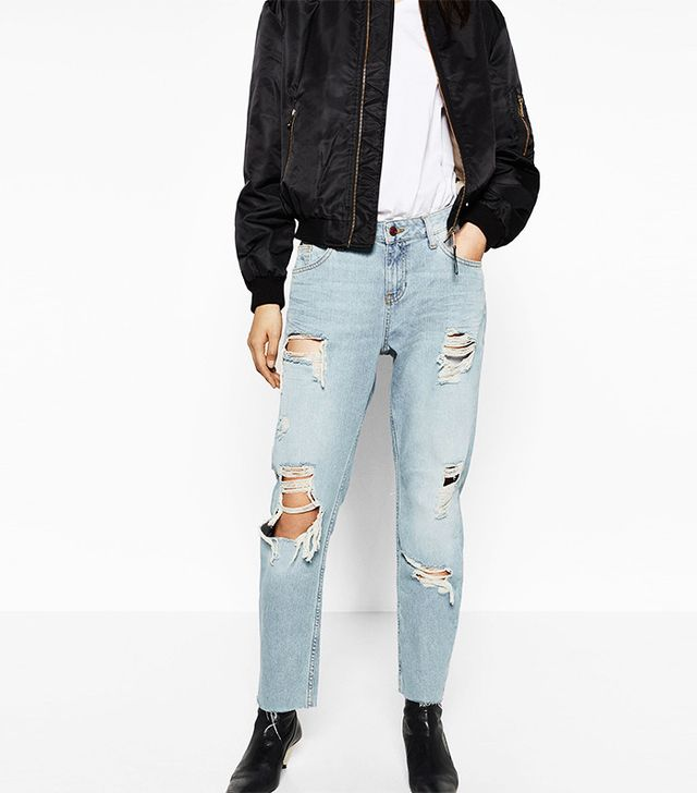 Zara Relaxed Fit Mid-Rise Jeans