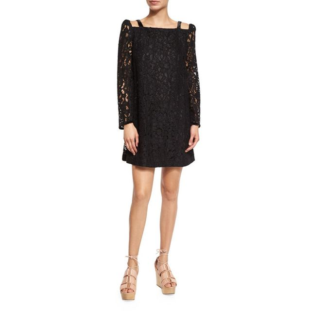 See by Chloé Long-Sleeve Lace Mini Dress