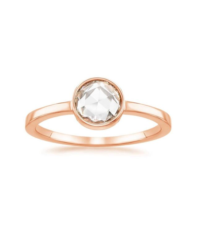 Brilliant Earth 14K Rose Gold Rosebud Diamond Ring