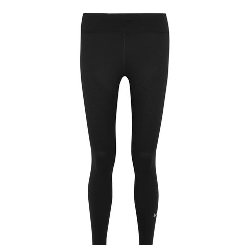 Zoned Strength Paneled Stretch-Jersey Leggings