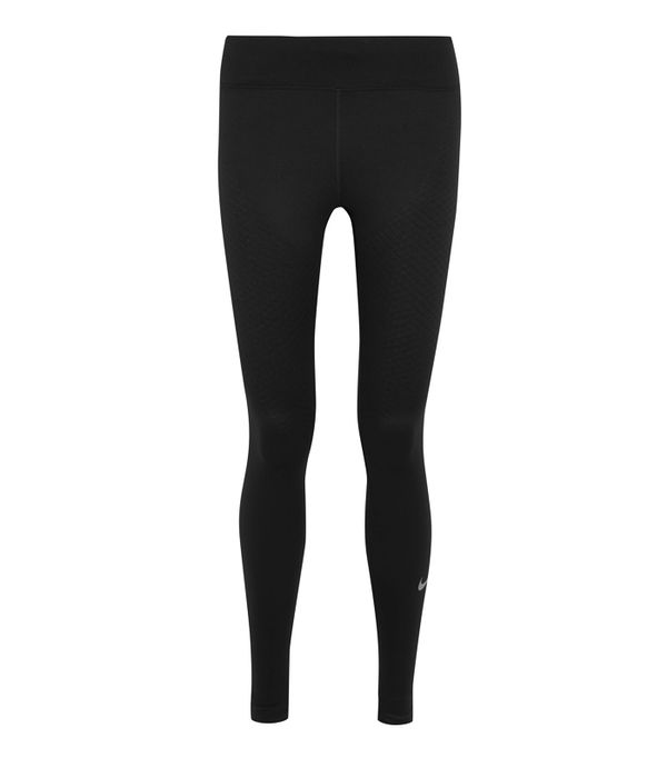 leggings and uggs: Nike Zoned Strength Paneled Stretch-Jersey Leggings