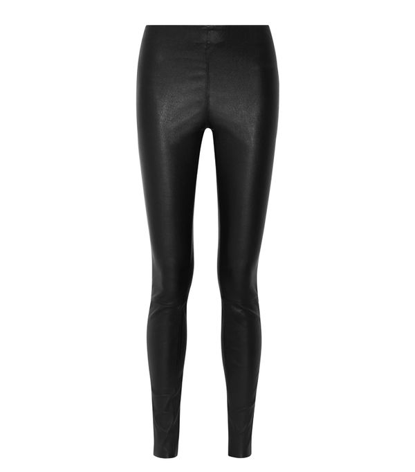 leggings and uggs: By Malene Birger Elenasoo Stretch-Leather Leggings