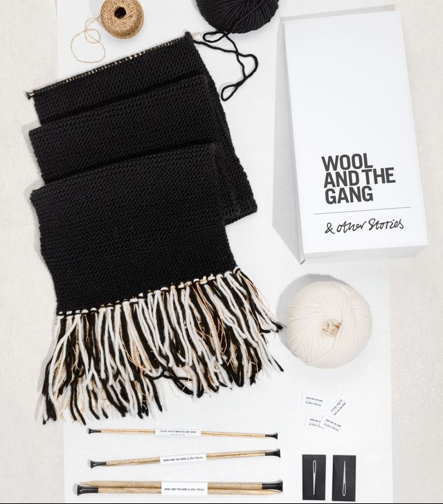 Wool And The Gang & Other Stories Knit Kit It's A Wrap Scarf