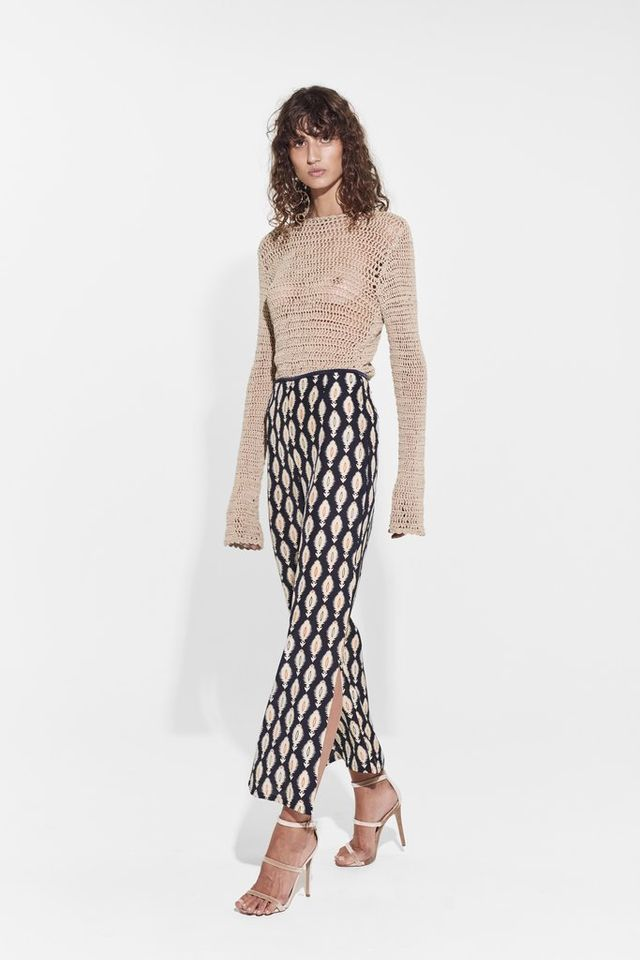 Vanessa Bruno Espagny High-Rise Tapered-Leg Crepe Trousers
