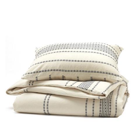 Rippled Stripe Organic Cotton Duvet Cover