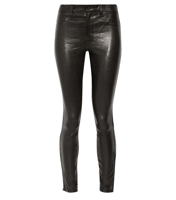 J Brand 8001 Leather Skinny Pants
