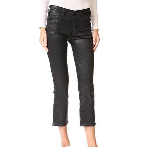 The Jodi Crop Leatherette Jeans