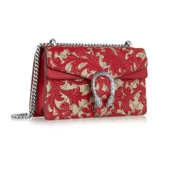 Gucci Dionysus Medium Leather-Appliquéd Bag