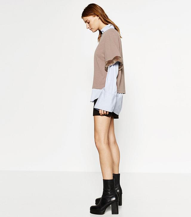 Zara Sleeve Detail Top