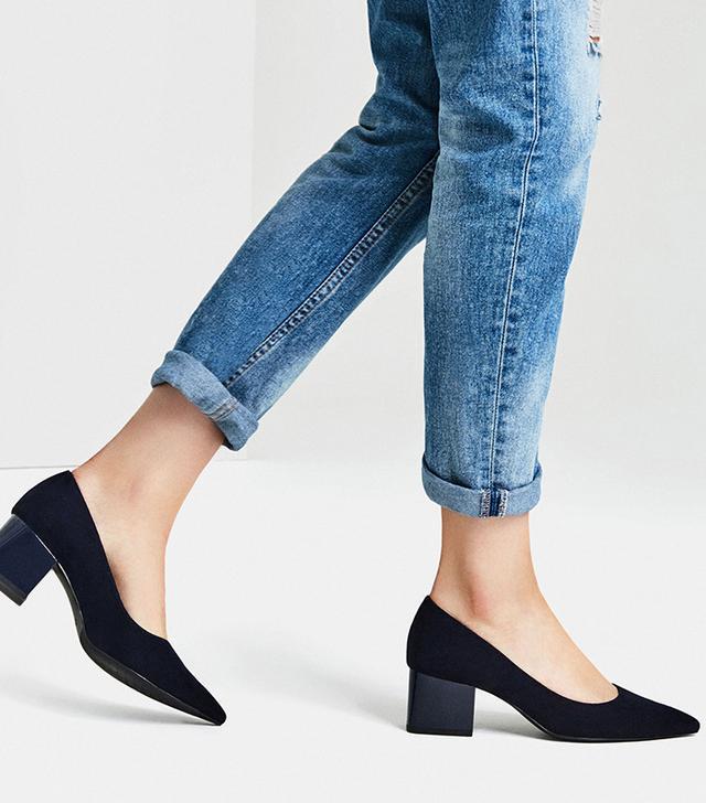 Zara Medium Heel Pointed Shoes