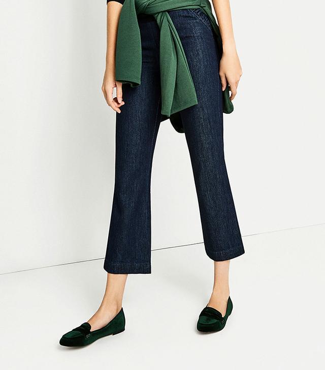 Zara Velvet Loafers in Green