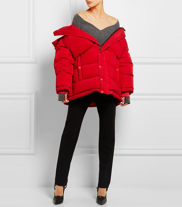 Balenciaga Oversized Quilted Shell Jacket