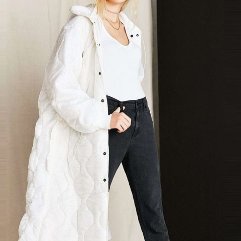 Vintage Puffy White Surplus Jacket