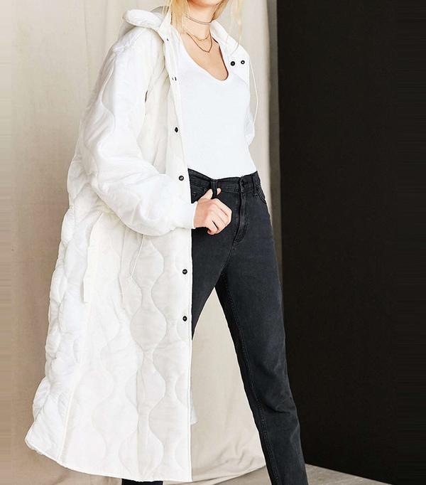 Urban Renewal Vintage Puffy White Surplus Jacket