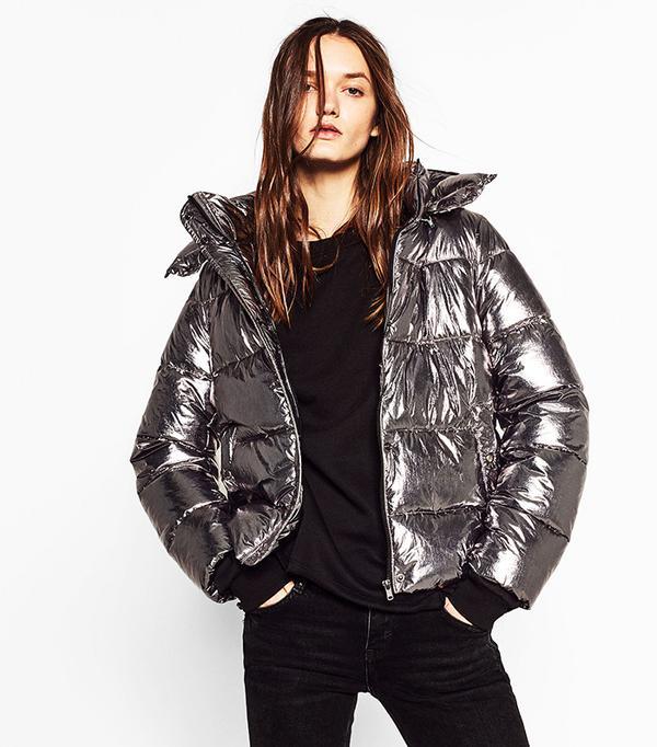 Zara Short Metallic Jacket