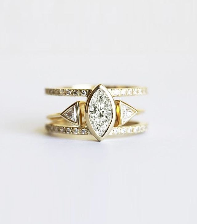 Capucinne Diamond Engagement Ring Set