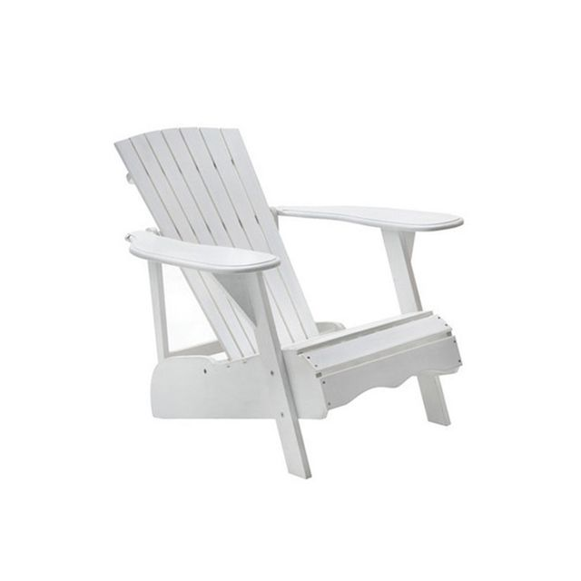 Temple & Webster White Timber Adirondack Lounge Chair