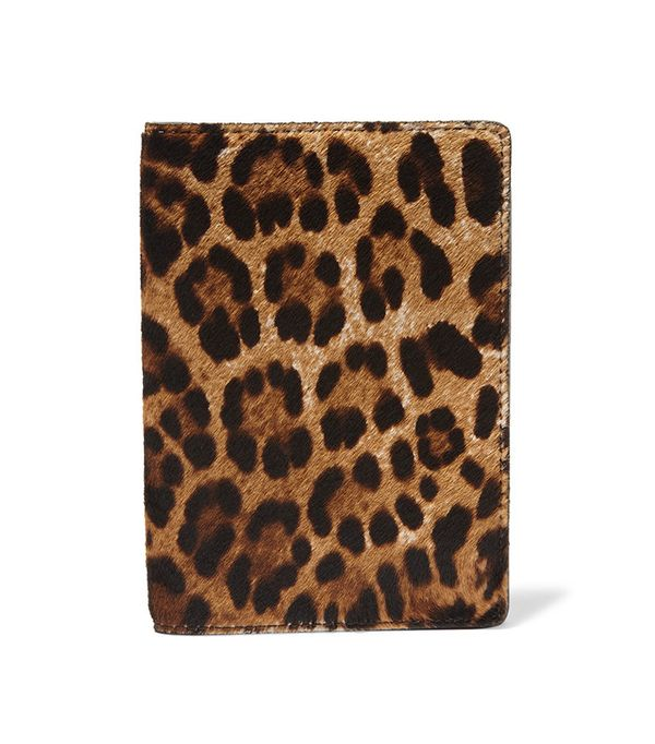 The Case Factory Leopard-Print Calf Hair Passport Cover