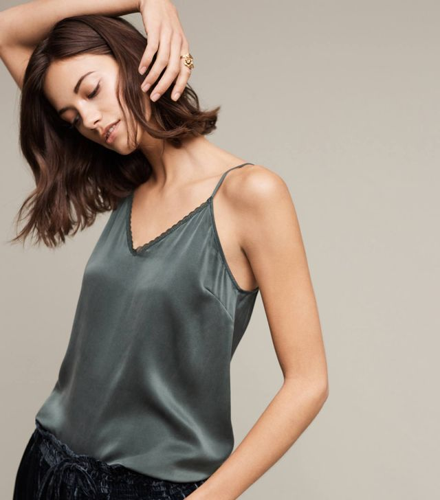 Anthropologie Silk Swing Cami