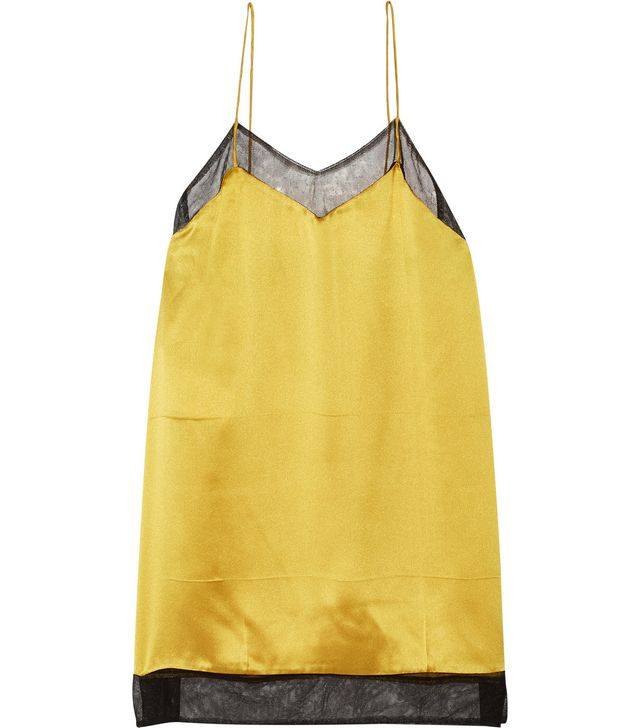 Gucci Mesh-Trimmed Silk-Satin Camisole