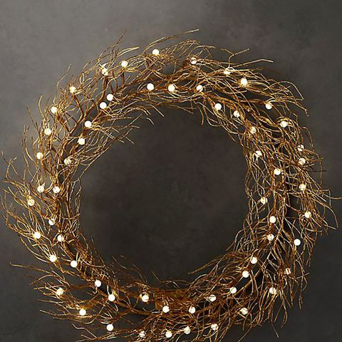 Northern Lights Starlit Wreath Gold