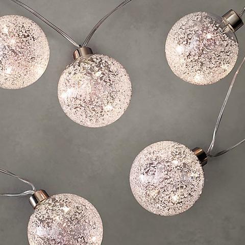 Northern Globe String Lights Silver