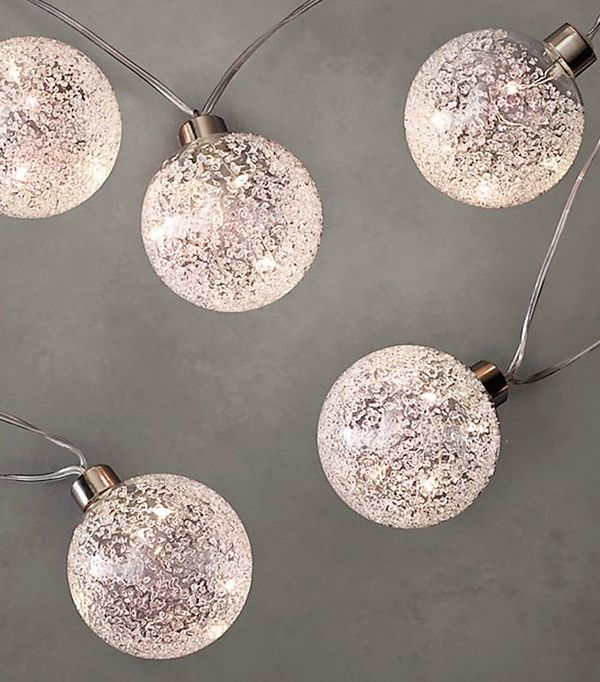 Glass Globe String Lights Restoration Hardware : How to Decorate Your Home for the Holidays With Only USD 100 MyDomaine