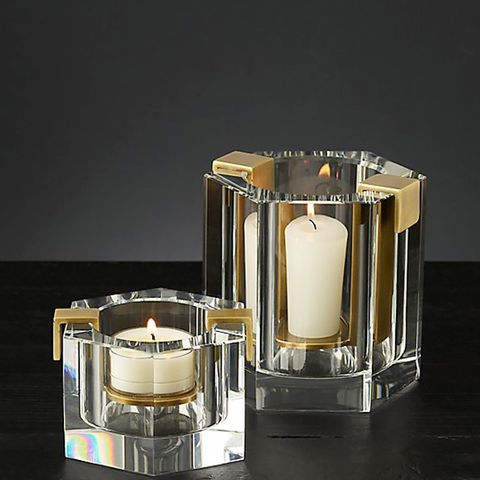 Crystal and Metal Candle Holders