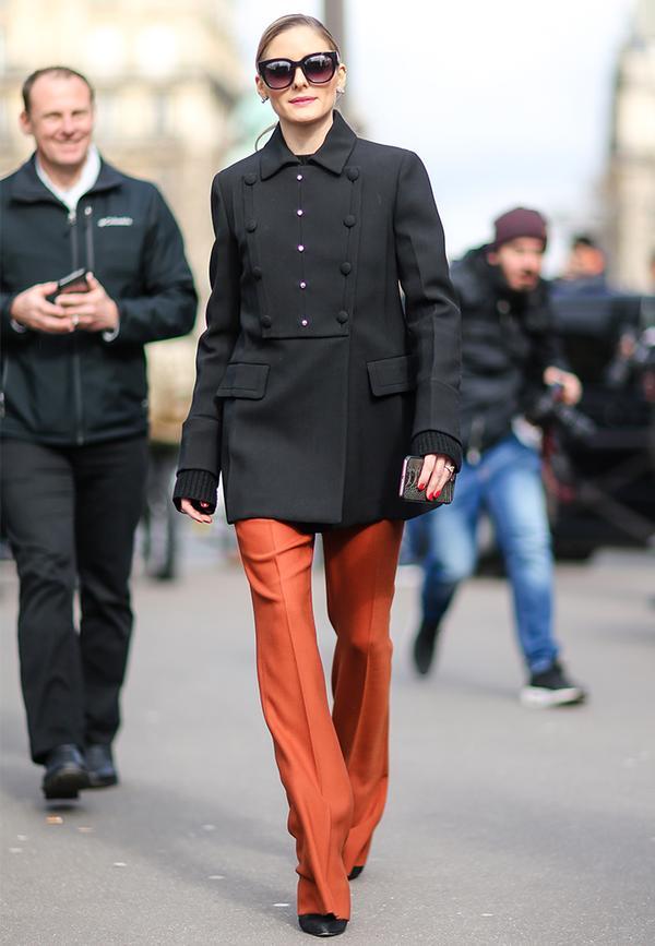 Olivia Palermo military coat