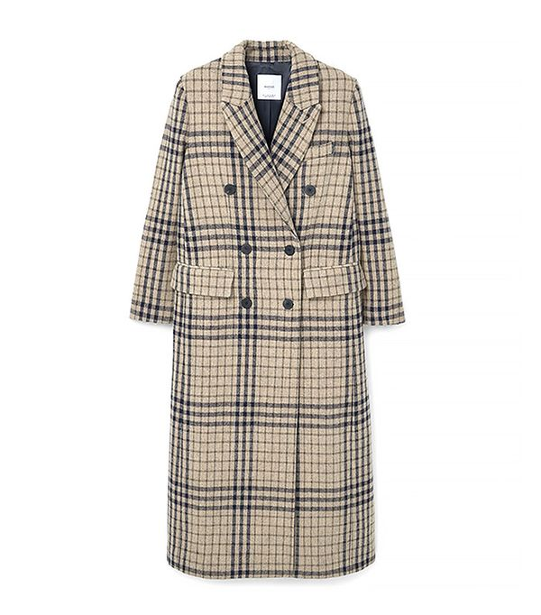 Check Wool Coat by Mango