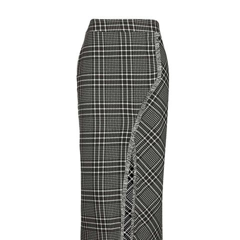 Cutabout Check Midi Skirt