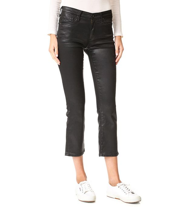 AG The Jodi Crop Leatherette Jeans