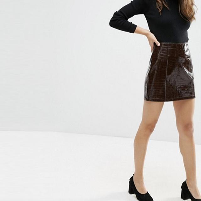 Zara Patent Mini Skirt