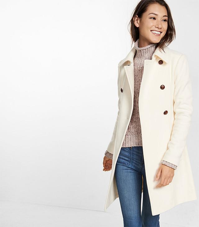 Express Ivory Wool Coat
