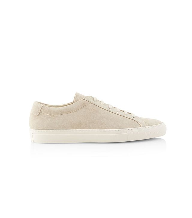 Woman by Common Projects Off White Suede Low Top Achilles Sneakers