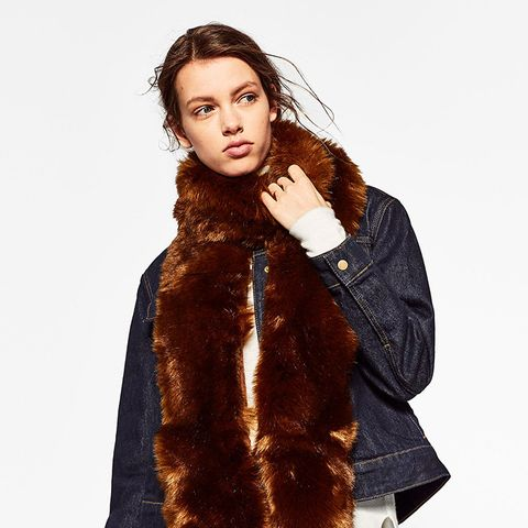 Soft Fine Faux Fur Stole