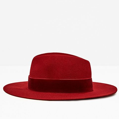 Hat With Wide Velvet Band