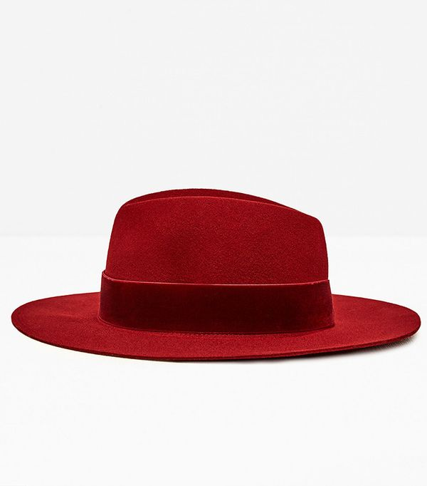 Zara Hat With Wide Velvet Band