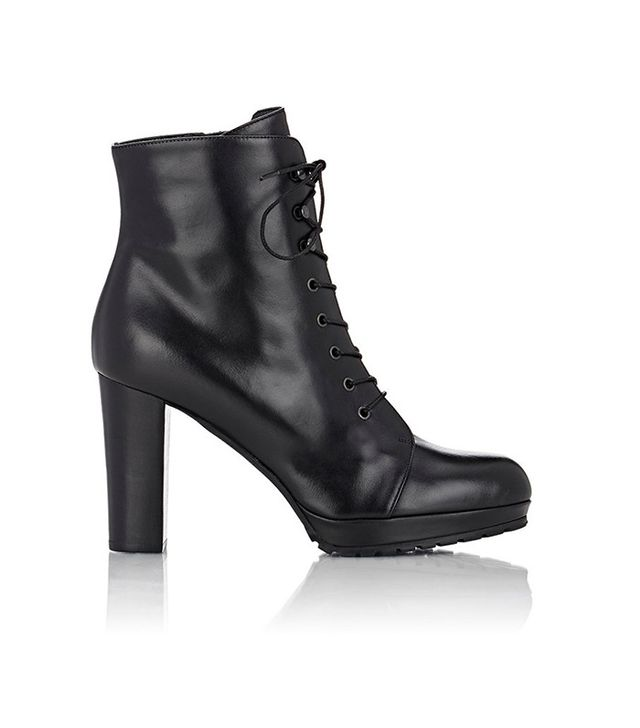 Barneys New York Lace-Up Platform Ankle Boots