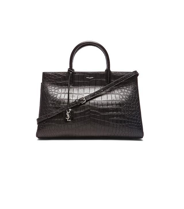 Saint Laurent Croc Embossed Cabas Bag