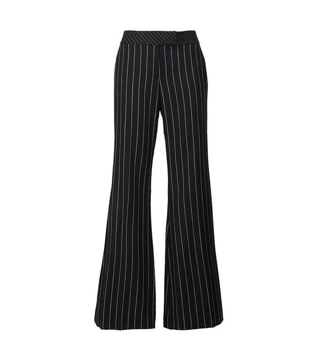 Rachel Zoe Pinstripe Flared Trousers