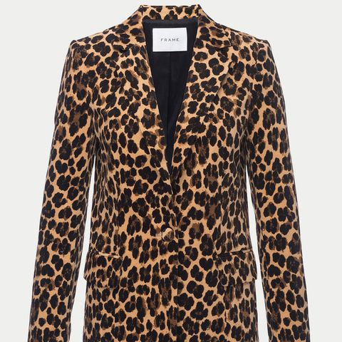 Cheetah Velveteen Classic Blazer