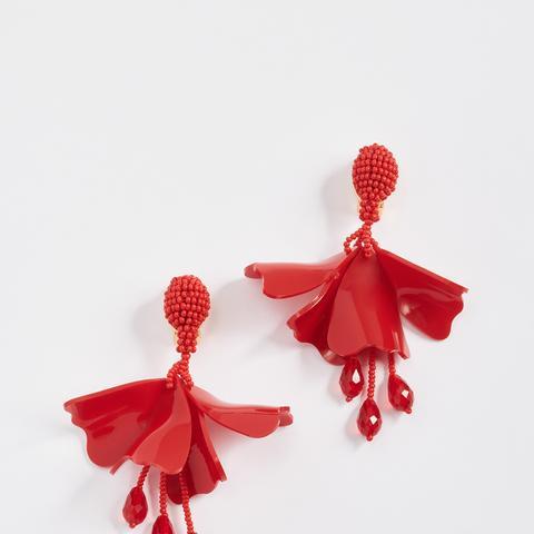 Small Impatiens Earrings