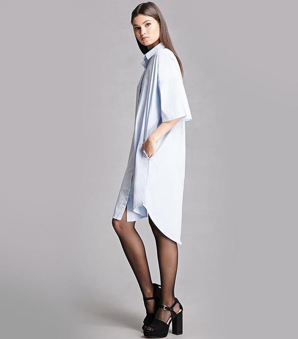 Forever 21 Momokrom Dolman Shirt Dress